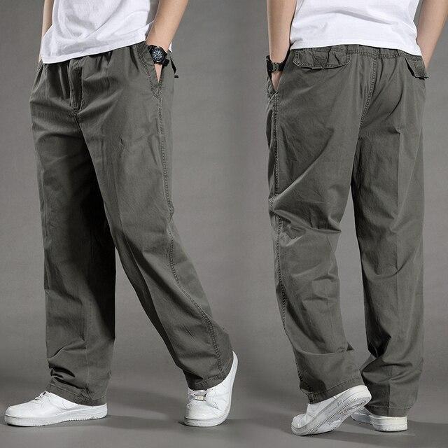 Harem tactica calças dos homens marca 2018 verão flacidez calças de algodão calças masculinas plus size calça esportiva dos corredores pés pantsL 6XL