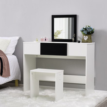 Dresser Table MakeUp Table Furniture With Handy Lift Up Mirror with Storage Compartment WIth Apartment Hotel Bedroom tanie tanio Meble do sypialni Komoda Meble do domu