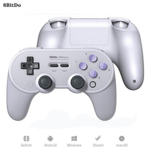 цена на 8Bitdo Sn30 Pro+ Wireless Switch Controller Bluetooth Gamepad  Joystick For Nintendo Switch PC macOS Android