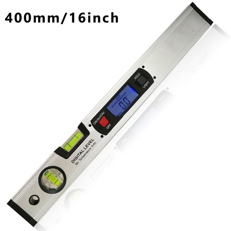DaMohony 400mm High Precision Aluminum Alloy Spirit Level Magnetic Spirit Level Protractor Spirit Level
