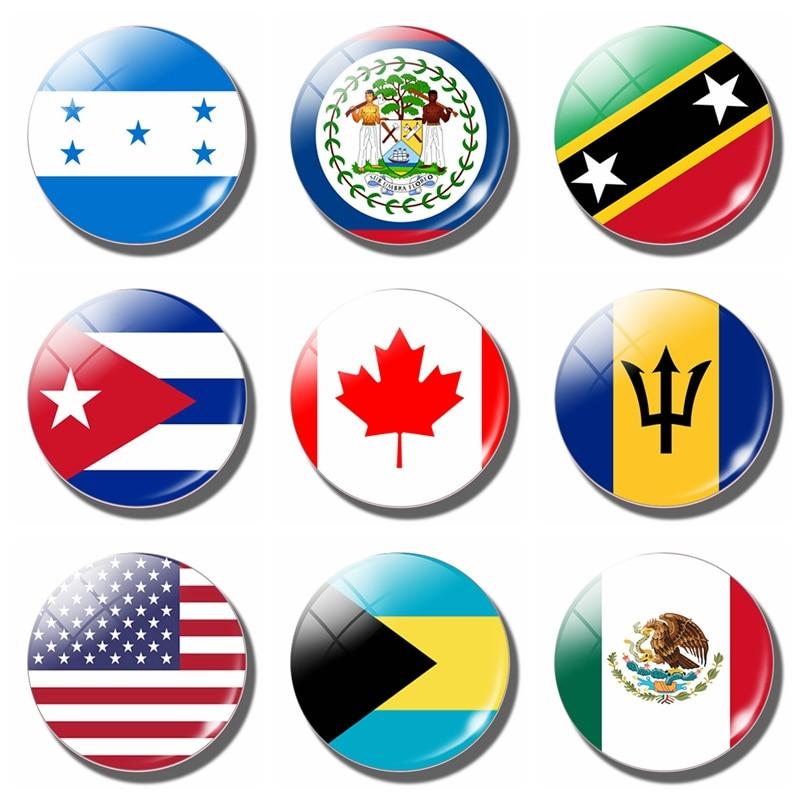 Магнит на холодильник, флаг гонраса, Ямайка, Белиз, Мексика, Белиз, Америка, Канада, Куба, Багамские Острова, магнитные наклейки на холодильник 30 мм