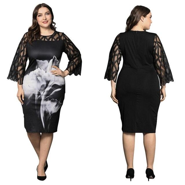Large Floral Lace Dress 3