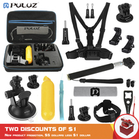 PULUZ 20 in 1 Accessories Combo Kits with EVA Case Head Strap J Hook Buckles Tripod AdapterStorage Bag for GoPro NEW HERO 7 6 5