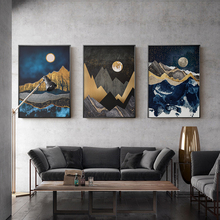 The Moon & Mountain Abstract Landscape Wall Picture for Living Room Posters and Prints Canvas Painting Home Decor Wall Art modern abstract landscape picture home decor nordic canvas painting wall art mountain sunrise prints and posters for living room