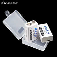 PALO 9V USB battery 650mah Rechargeable micro usb 9V Lipo Batteries For microphone wireless microphone Guitar for EQ smoke alarm