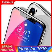 Baseus 0.3 Millimetri Protezione Dello Schermo in Vetro Temperato per Il Iphone Xs Max X Xr Copertura Completa di Protezione in Vetro per Il Iphone 11 pro Max di Protezione