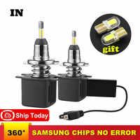 H7 H1 Led Bulb With Samsung Chip H11 Led Car Headlight D2S D4S H4 H8 9005 HB3 9006 HB4 D1S Car Led Lamp 10000LM 6500K Fog Light