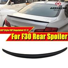цена на F30 Spoiler FRP Unpainted Spoiler Tail Wing AEP Style Fits For BMW F30 3-Series 325i 328i 330i 335i Primer Black Spoiler 2012-17