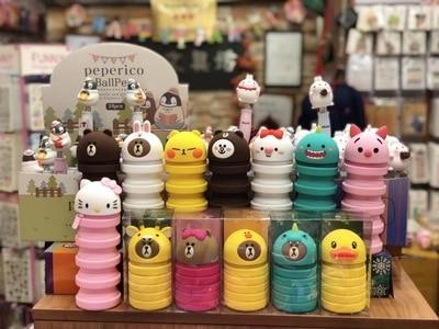 Silicone Pen Bag Cute Bear, Rabbit Retractable Pen Container Children Creative Relief Pencil Case Kawaii Stationery Box