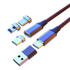 Image 1 - 4 in1 마그네틱 USB PD 케이블 유형 C 마이크로 4 usb to USB 어댑터 USB C 5A MacBook Pro 용 고속 충전 데이터 전송 케이블