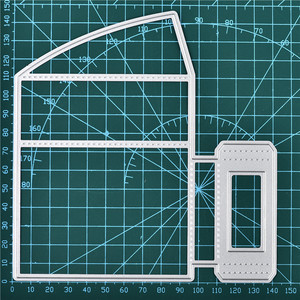 Image 3 - Naifumodo Paper Card Holder Metal Cutting Dies Stitched DIY Scrapbooking Stamps Craft Embossing Die Cut Making Stencil Template