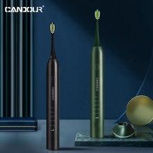 CANDOUR Sonic brosse à dents électrique amélioré automatique Rechargeable brosse à dents étanche remplacement brosse têtes cadeau CD-5133