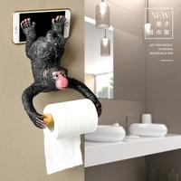 Monkey Bear Creativity Kitchen Sanitary Paper Frame Animals Nordic Wall hanging Rolling Paper Frame Japanese Toilet Kitchen