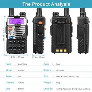 Image 5 - 2 шт BaoFeng UV 5RE двухдиапазонный 136 174/400 480 МГц 128CH FM радио