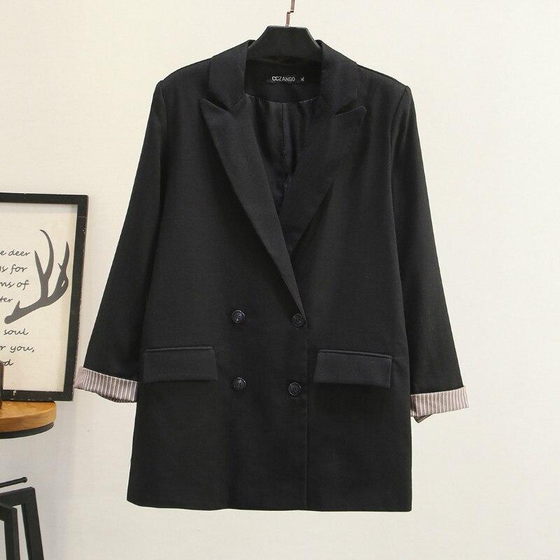 Autumn Women's Jacket Small Suit 2019 New Casual Large Size XL-4XL Long Ladies Blazer Fashion Office Jacket Female