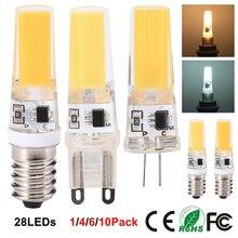 Dimmable Mini G4 G9 LED COB Lamp 3W LED Bulb AC200-240V Chandelier Lights Replace Halogen for Chandelier Spotlight E14 LED Lamp