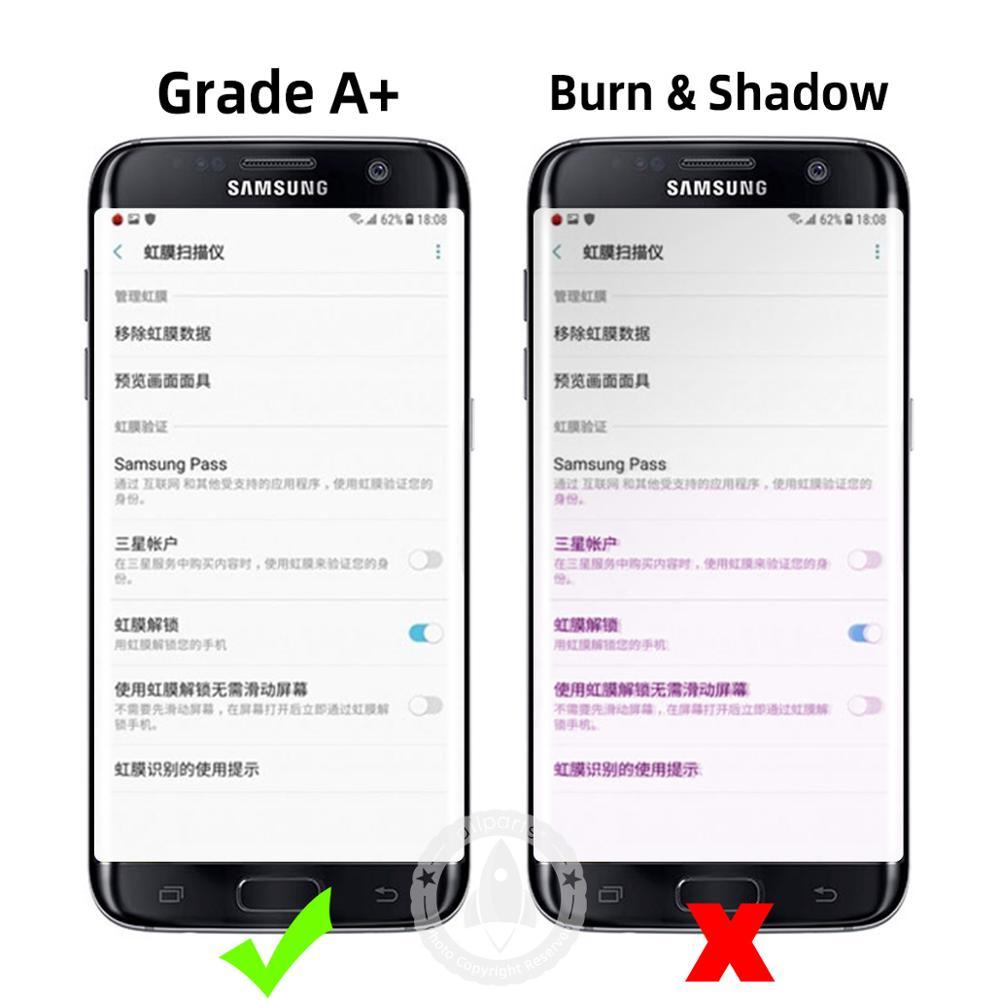 ORIGINELE Super AMOLED Display Voor SAMSUNG Galaxy S7 Rand LCD Touch Screen Digitizer Vergadering met Frame Vervanging G935F G935 - 2