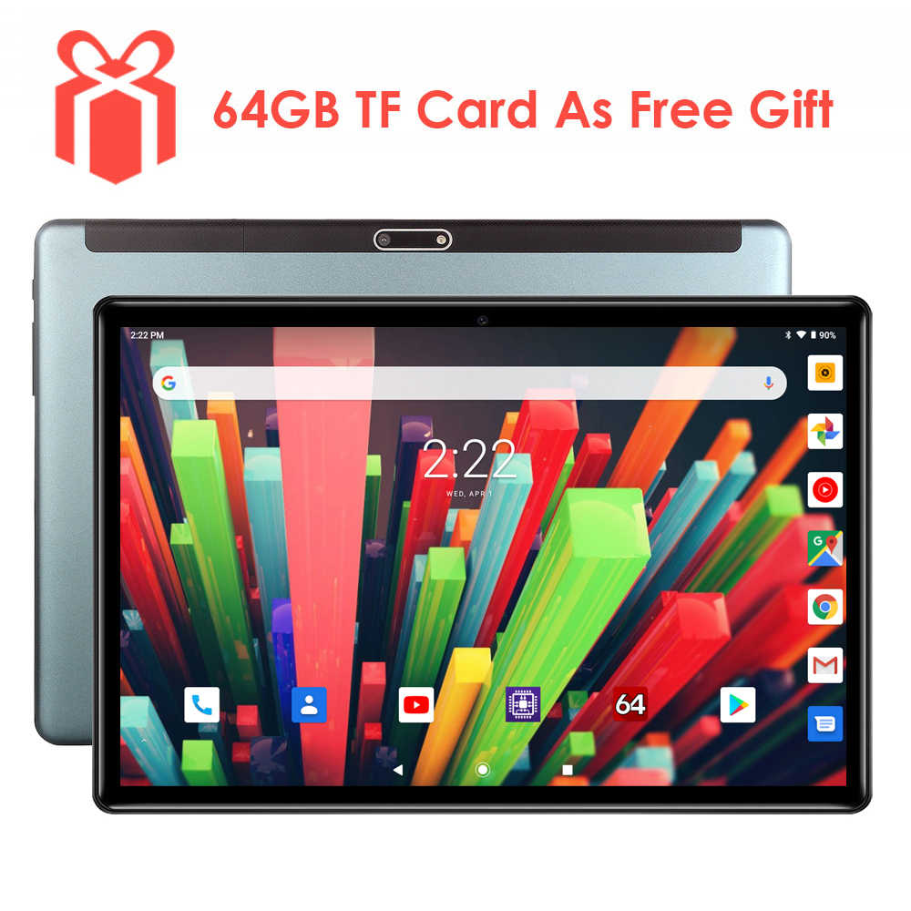 Süper temperli 2.5D cam 10 inç tablet Android 7.0 dört çekirdekli 1.5GB RAM 32GB ROM 1280x800 HD IPS 3G telefon gps Media Pad Youtube