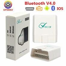 Viecar elm327 bluetooth 4.0 obd2 elm327 1.5 leitor de código bluetooth 4 para ios/android obd 2 scanner carro Viecar-Bluetooth-4