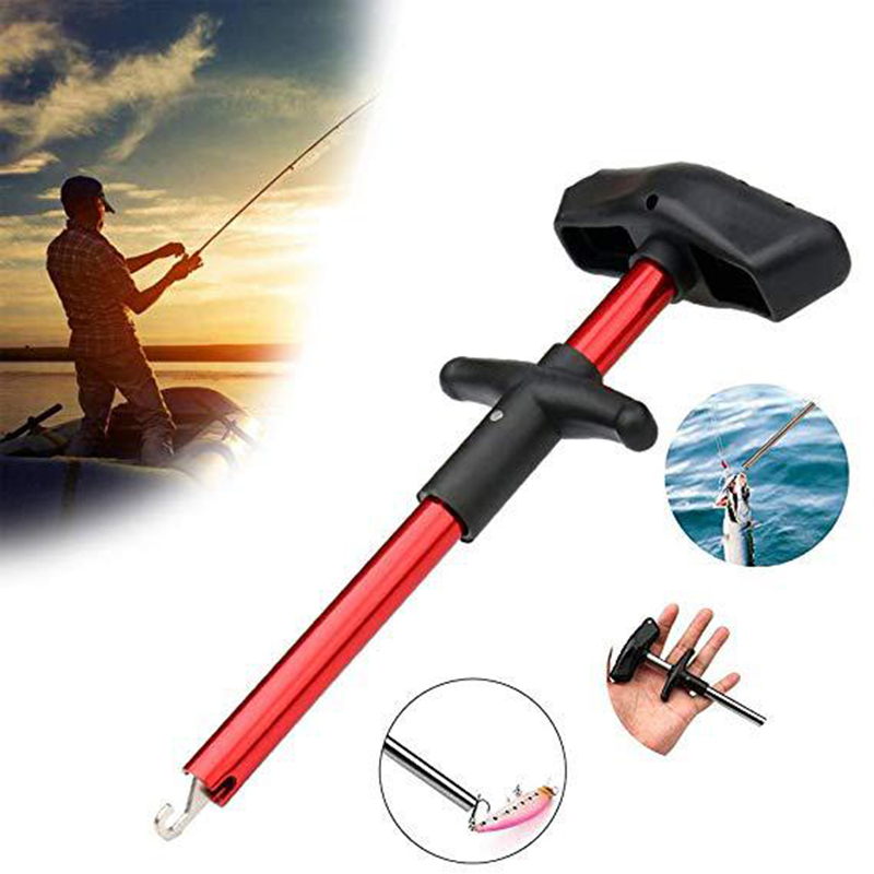 Fishing Lure Remover Hook Detacher Portable Aluminum Tube Fish Hook Out Extractor Decoupling Device Fishing Tools Fishing Tackle