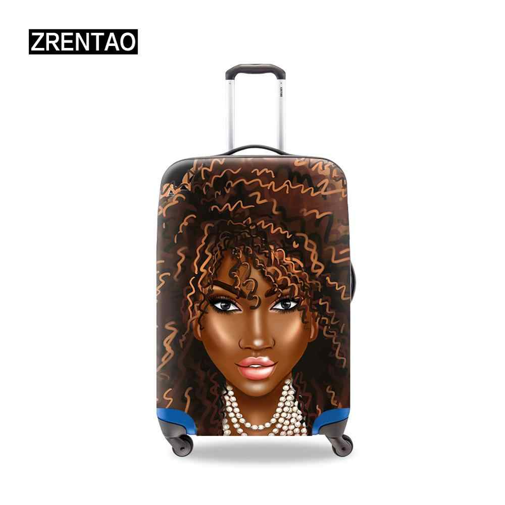 High Quality Dust-Proof African girls Printing Womens Traveling Suitcase Cover Small/Medium/Large/XL Size Fits 18-32Inch Cases