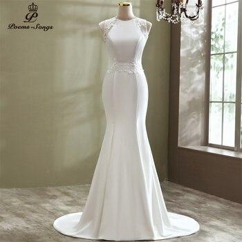 Real photo Elegant style mermaid wedding dress marriage robe de mariee vestidos novia sereia bride gowns - discount item  43% OFF Wedding Dresses