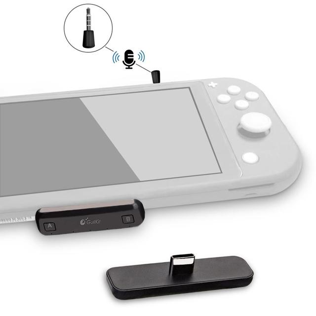 Беспроводной аудио адаптер GuliKit NS07 Pro Route Air с поддержкой голосового чат USB C Bluetooth аудио передатчик для Nintendo Switch PS4