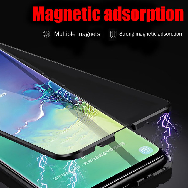 Magnetische Adsorptie Case Voor Samsung Galaxy A50 A70 A7 2018 S8 S9 S10 Plus S10e Shockproof Case Voor Note 9 8 10 Pro Back Cover 2