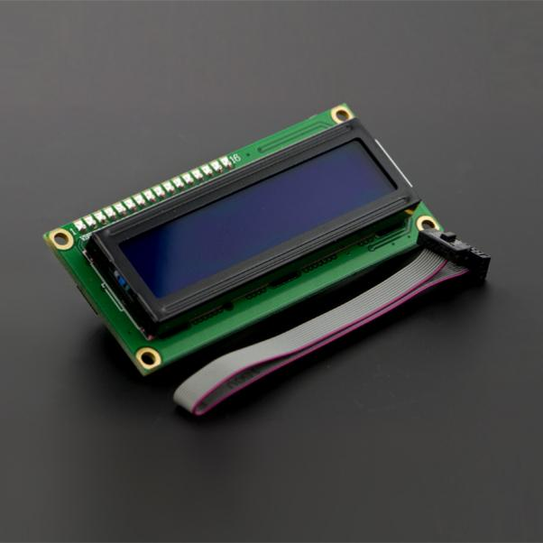 Free Shipping For  DFrobot Arduino IIC/I2C LCD1602 LCD Blue Screen Provides Library File