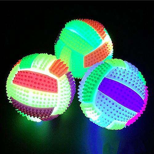 Bouncy Ball Volleyball Luminous Double Color Bouncing Ball Glow Intelligent Unisex Kids Children Outdoor Healthy Sports Toy