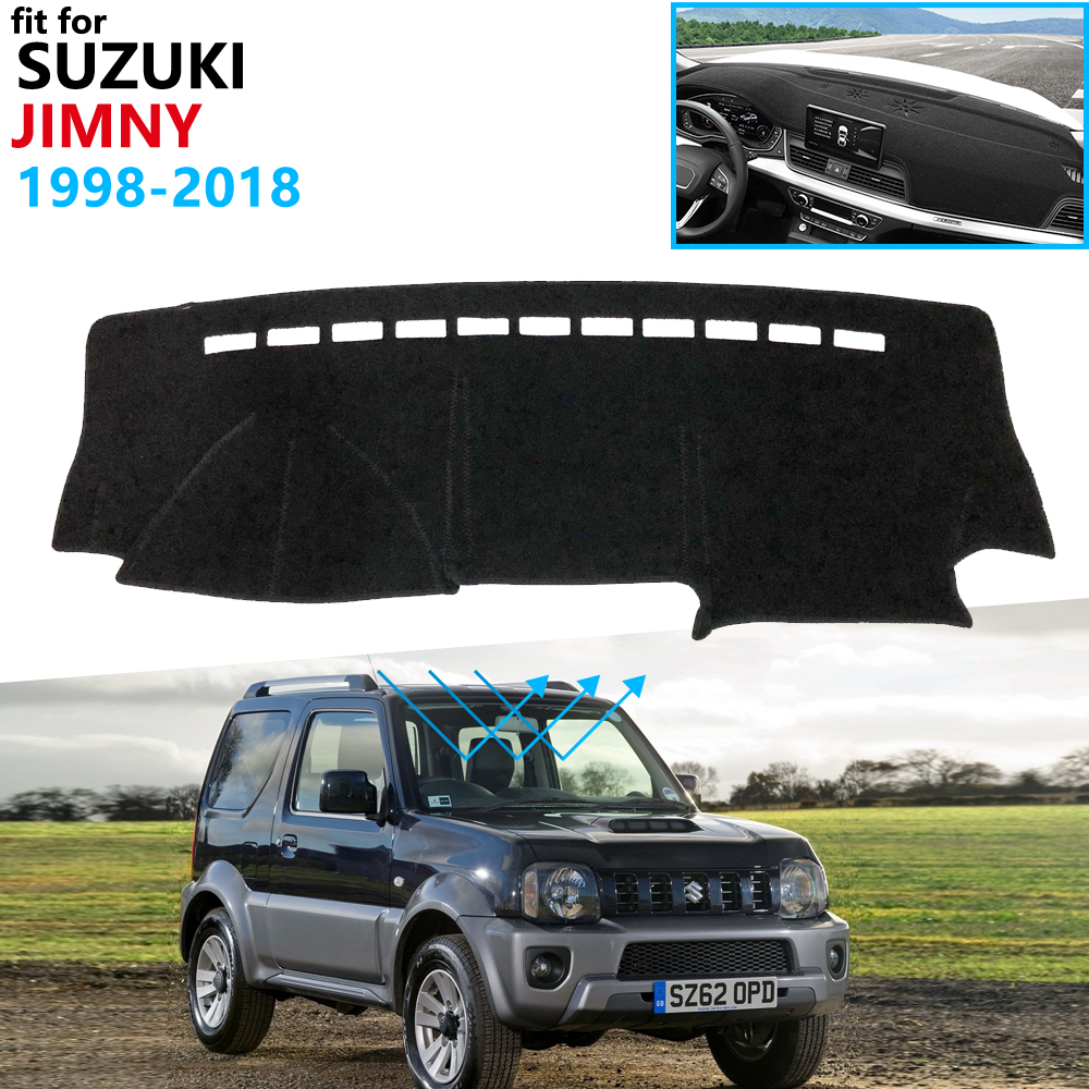 Dashboard Cover Protective Pad For Suzuki Jimny 1998~2018 Car Accessories Dash Board Sunshade Anto-UV Carpet 2007 2010 2011 2018