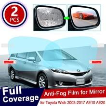 Para toyota desejo 2003 2017 2009 10 20 ae10 ae20 ae anti nevoeiro filme espelho retrovisor à prova de chuva anti-nevoeiro filmes acessórios 2010 2016