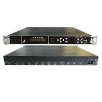 Codificador de alta definição de 12 canais e modulador all-in-one hdmi para rf (dvb-t/c/atsc/isdb) hdmi para ip  asi hotel tv