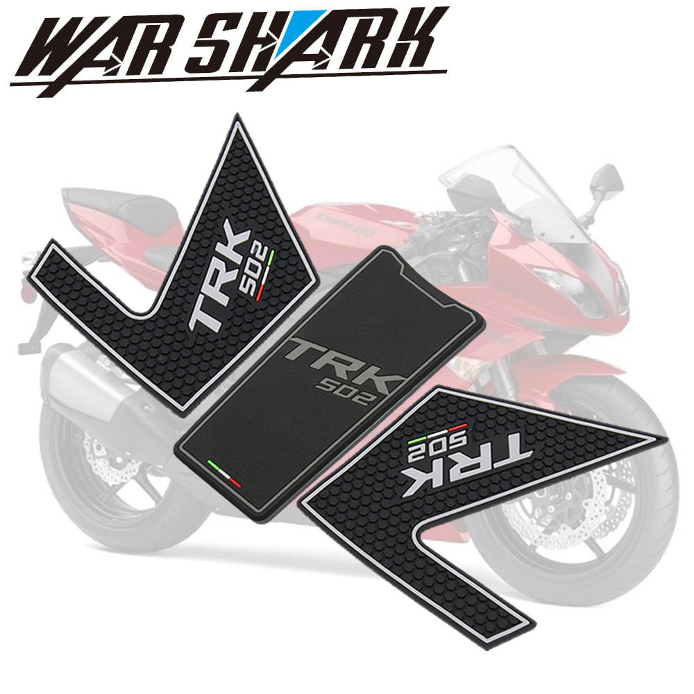 For <font><b>Benelli</b></font> TRK502 <font><b>TRK</b></font> 502 502X Motorcycle Tank Pad Protector <font><b>Sticker</b></font> Decal Gas Knee Grip Tank Traction image