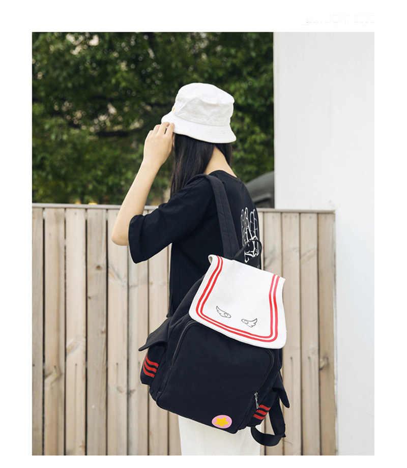 อะนิเมะ Cardcaptor ซากุระผ้าใบกระเป๋ากระเป๋าเป้สะพายหลัง Satchel กระเป๋าสตางค์กระเป๋านักเรียนน่ารักกระเป๋าถือเพื่อนใหม่ปีใหม่นำเสนอ