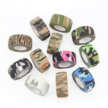 Cohesive Wrap Tattoo Grip Bandages 24 rolls 1inch Camouflage Elastic Self Adhesive Tapes 25mm For Sport Protection Pet Injury