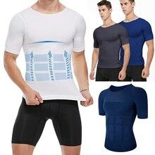 Vest Shirt Posture Corset Corrector Slimming-Shaper Belly-Abdomen Chest Compression Body-Building