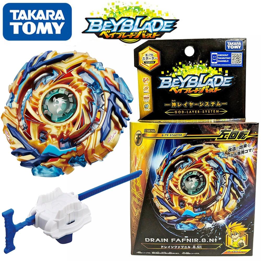 Takara tomy starter drain fafnir. 8.nt esquerda rotação com lançador beyblade ser lâmina superior spinner brinquedo para crianças