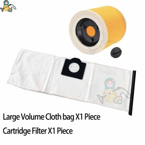 Image 3 - Filter dust bags for Karcher WD3 Premium WD 3.300  WD 3.200 WD3.500  SE4001 WD3 P 6.959 130 6.414 5520 cleaner parts