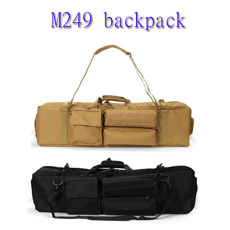 Outdoor military airsoft tactical rucksack 1000D nylon sleeve tactical M249 gun bag field travel equipment practical backpack