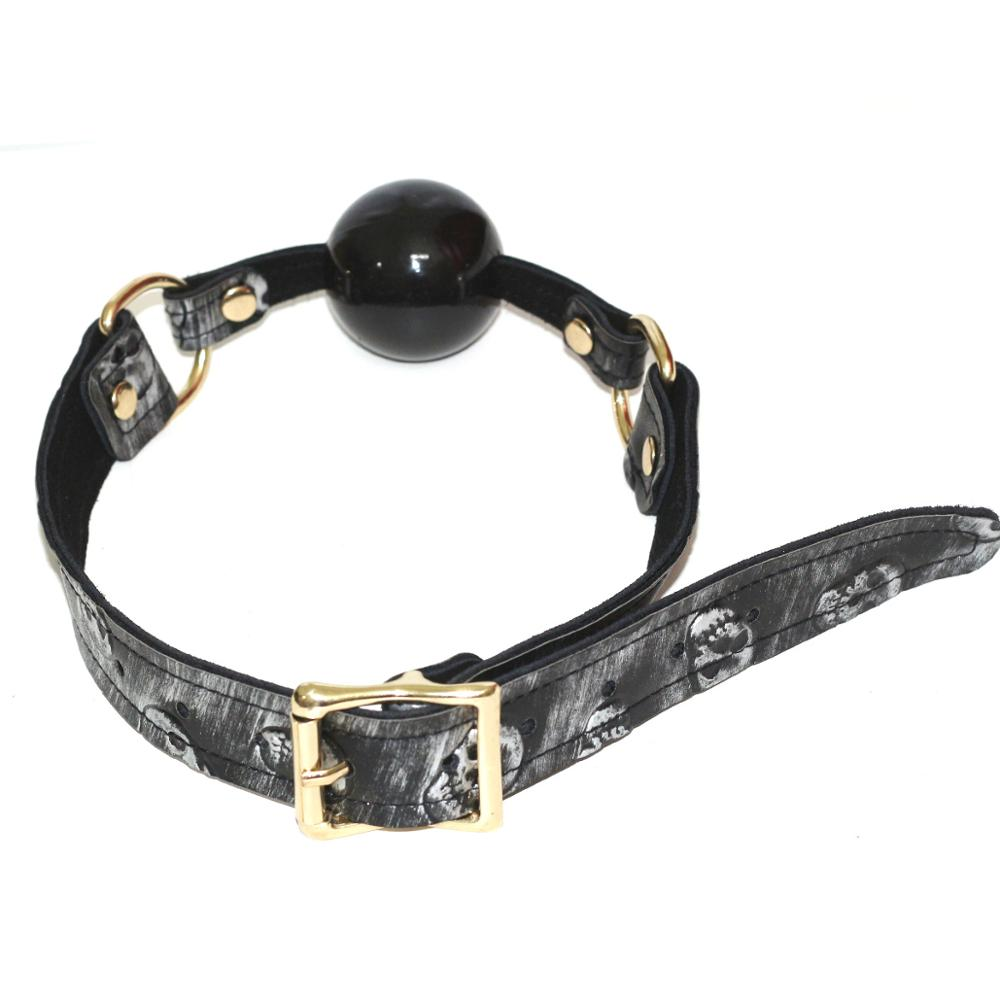 Hot Erotic Silicone Mouth Gag PU Leather Band Bondage Restraints Open Mouth Ball Gag Sex Toys for Couples Exotic Accessories in Adult Games from Beauty Health