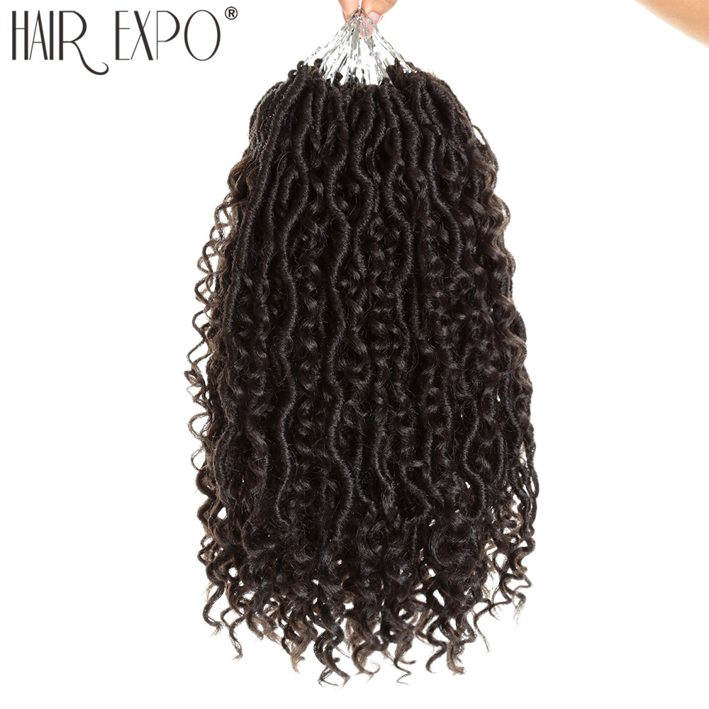 14inch Goddess Faux Locs Curly Crochet Braids For Black Or White Women Locs 24 Stands/Pack Synthetic Braiding Hair Extension