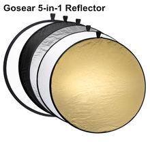 Gosear kit de iluminação de 60cm, equipamento portátil, dobrável, câmera redonda, refletor de disco fotográfico, kit de transporte, fotografia