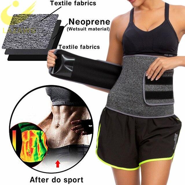 LAZAWG Women Waist Trainer Belt Slimming Sauna Waist Trimmer Belly Band Sweat Sports Girdle Belt No Zipper No Hook Belt Shaper 1