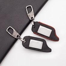 Trägt Weiche Leder Schlüssel Fall Abdeckung Für Starline B9 B91 B6 B61 A91 A61 V7 LCD Zwei-wege Auto Alarm fernbedienung Schlüsselbund Fall