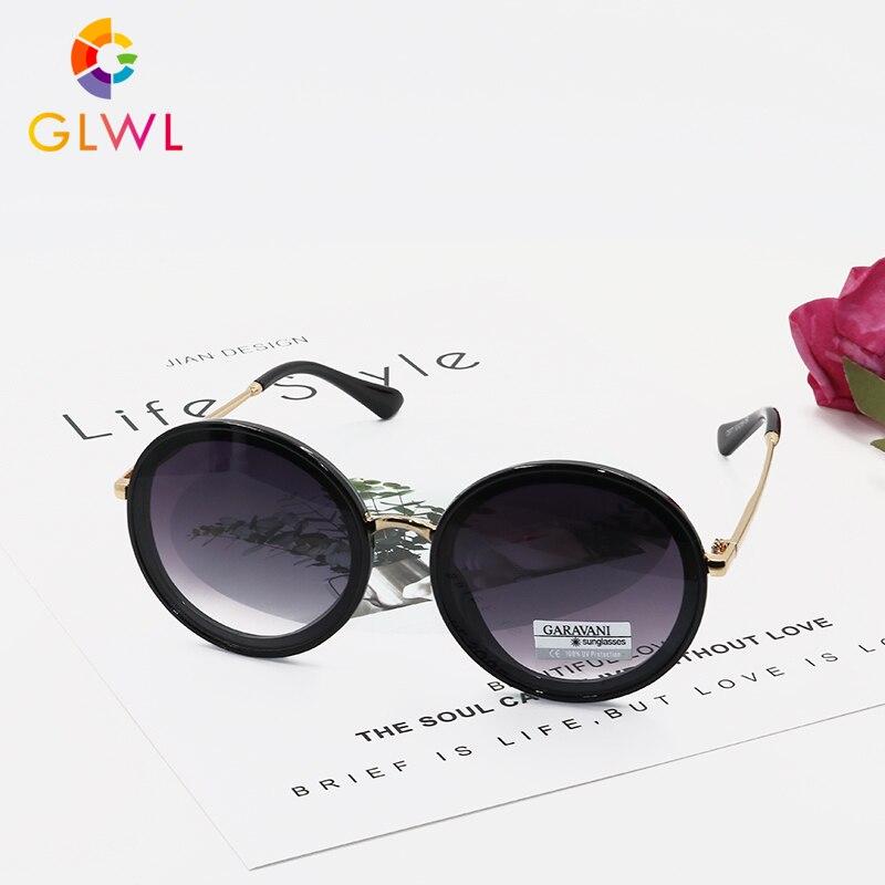 Round Sunglasses For Women Luxury Brand Women's Sun Glasses 2020 Vintage Ladies Eyeware Girls Black Mirror Driving Wholesale Hot