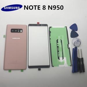 Image 4 - NOTE8 новый оригинальный чехол для Samsung Galaxy NOTE 8 N950 N950F Задняя стеклянная крышка для аккумулятора + передняя стеклянная линза + клей + Инструменты