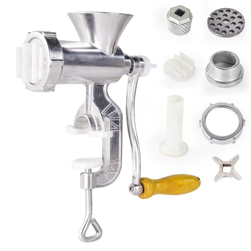 Aluminium Legierung Hand Bedienen Manuelle Fleischwolf Wurst Rindfleisch Fleischwolf Mit Tischplatte Clamp Küche Home Werkzeug