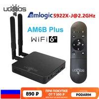 Ugoo AM6 AM6B Plus Amlogic S922X-J 2.2GHz Tv Box Android 9.0 Wifi 6 DDR4 4GB 32GB 4K Set Top Box 1000M Lan Media Player