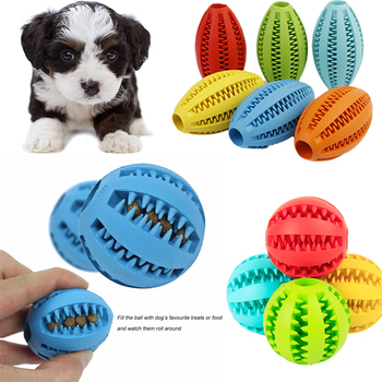 Pet Dog Toy Rubber Leaking Ball Dog Pet Food Treat Feeder Chew Tooth Cleaning Ball Puppy Toys Pet Cat Dog Interactive Toys dog toys toy funny interactive elasticity ball dog toys chew toy for dog tooth clean ball of food extra tough rubber ball
